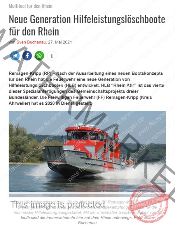 HLB Rhein-Ahr im Feuerwehrmagazin
